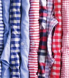 shirts striped checked colored white blue small thin large