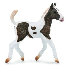 *NEW* CollectA 88770 Black /& White Piebald Gypsy Horse Foal Model 12cm