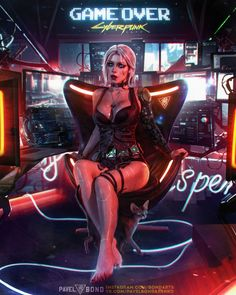 The Witcher 3 + Cyberpunk 2077 Crossover Cosplay Cyberpunk 2077, Cyberpunk Kunst, Cyberpunk Girl, The Witcher, Cyberpunk Aesthetic, Amarillis, Ciri, Ex Machina, Sci Fi Characters
