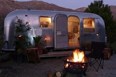 I don't go camping much, but when I do, I  do it in a vintage Airstream.