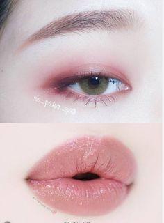 Cute Makeup, Simple Makeup, Lip Makeup, Natural Makeup, Beauty Makeup, Makeup Looks, Korean Makeup Look, Asian Eye Makeup, Makeup Inspo