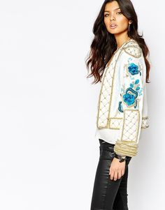 Love love love heavy embellished jackets | A Star Is Born Allover Luxe Embellished Trophy Jacket