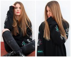 Get this look: http://lb.nu/look/8579677  More looks by Fashion Teen Church: http://lb.nu/fashionteen  Items in this look:  Pull & Bear Sudadera, Stradivarius Botas   #look #girls #outfit