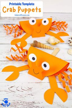 This Crab Puppet Craft is so fun for kids. Download the printable crab craft template and get making yours today. Such a fun ocean craft for kids this Summer! #kidscraftroom #crabs #crabcrafts #summercrafts #kidscrafts #kidsactivities #oceancrafts #puppets #puppetcrafts #beachcrafts Summer Crafts For Kids, Paper Crafts For Kids, Fun Crafts, Art For Kids, Diy Paper Crafts, Stick Crafts, Summer Diy, Resin Crafts, Kids Fun