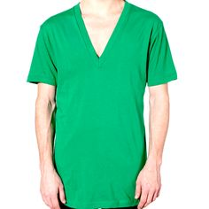 AA031 American Apparel Deep V-Neck T-Shirt An organic cotton jersey ringer t-shirt. - 100% pre shrunk and laundered cotton - Mitred deep v neckline - Reinforced taping at shoulder - 129gsm - Price from £5.45