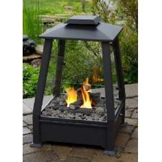 Outdoor Fireplace in Black