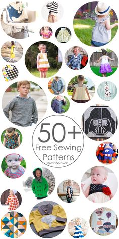 50  Free Sewing Patterns    For Baby    For Boys    For Girls    For Home