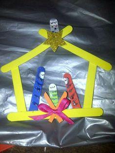 Easy paddle pop Nativity Scene