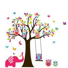 Custom Listing Tree Decal Nursery Wall Stickers by wallartdesign. , via Etsy. Tree Decal Nursery, Owl Wall Decals, Tree Decals, Nursery Wall Stickers, Wall Decal Sticker, Wall Murals, Mather Day, Nursery Pictures, T Art