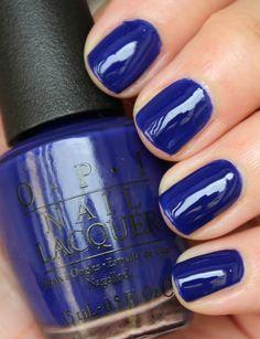 NAILTASTIC: OPI My Car Has Navy-gation Opi Blue Nail Polish, Shellac Nail Colors, Opi Nails, Manicures, Opi Colors, Nail Polishes, Colours, Dark Blue Nails, Navy Nails