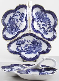 Hors d'Oeuvres Dish c1924    Minton  Willow