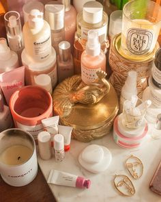 Am I vain enough to make a mess of my vanity to make one corner more aesthetic for a potential Instagram photo? OF COURSE I AM! _____… All Things Beauty, Vanity, Glossier, Oc, How To Make, Corner, Group, Princess, Board