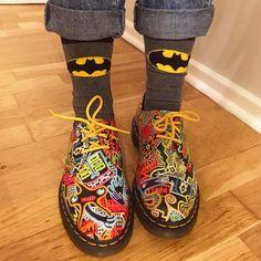 Kaboom! Shoes from DrMartensXMarkWigan Winter 2015 Collection #markwigan #art #arte #artist #illustrator #illustration #graphicartist #graphicart #DrMartenStyle #drmartens #docmartens #docsoftheday...