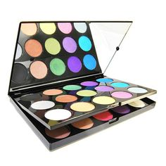 [$28.99 USD grxjy5140011]15 Colors Glitter Eye Shadow Palette Cosmetics Makeup