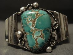 Museum Vintage Navajo Possible Damale Turquoise Silver Bracelet