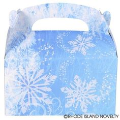 Give your guests the warm and fuzzies when you give them these cool 6.25-inch Snowflake Treat boxes filled with fun goodies. Their simple and unique snowflake designs make these goody boxes perfect for winter wonderland or ice princess themed parties and events. Easy assembly.  #snowflake #treat #box #partyplanning #Christmas #holidays