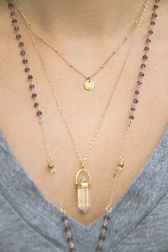 Gold Coin Necklace Dainty Gold Necklace Satellite Chain