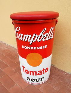 Campbells Soup Stool #furniture #andy_warhol #vintage #home #upholstery #storage
