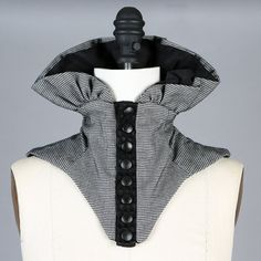 Black and White Neck Collar Corset Scarf Scarflette