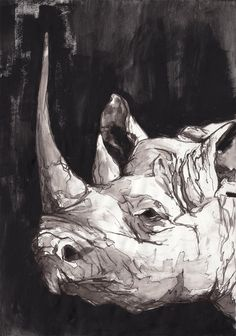 Buy this beautiful print and you will be helping rhinos... 50% will be donated to www.stoprhinopoaching.com