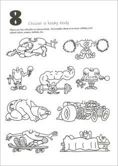 7 of 10 Tekenprent Cartoon Drawing For Kids, Drawing Cartoon Characters, Cartoon Kids, Cartoon Drawings, Funny Drawings, Caricature Artist, Caricature Drawing, Body Template, Cartoon Head