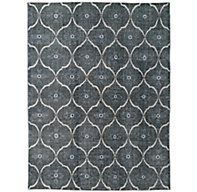 Andalucia Rug - Charcoal/Pool exceptionally long wearing: 6x9 for foyer or 12x15 for dining