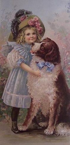 Victorian Girl with Dog ~ Rosas de Verônica                                                                                                                                                      Mais