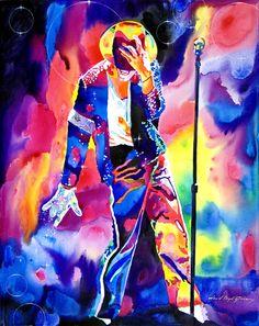 Michael Jackson Sparkle Art Print increible cuadro lo quiero !!!!