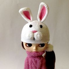 Hey, I found this really awesome Etsy listing at https://www.etsy.com/listing/247956375/white-bunny-ears-hat-for-blythe-doll