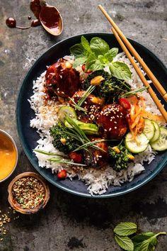 Gochujang Chicken, Asian Recipes, Healthy Recipes, Easy Recipes, Healthy Food, Ramen, Korean Chicken, Recipe Sheets, Chicken Meatballs