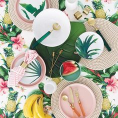 Tropical entertaining this summer  super excited to finally share this gorgeous tropical flat lay we styled & photographed for our favourite summer edition of @adoremagazine don't forget to pick up your copy in newsagents - perfect summer holiday reading  #villastyling #stylist #interiorstylist #tropical #decor #flatlay #summer #style #productphotography #productstylist #magazine see @adoremagazine for product details