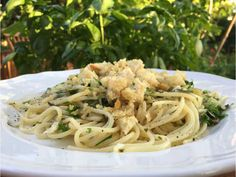Spaghetti with Handfuls of Herbs.