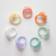 Glass Cluster Ring  Opaque Pastels by UrbanRevisions on Etsy