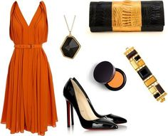 Perfect fall look. I absolutely love this color scheme... okay, the shoes rock, too.