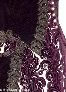 1870's Purple Bustle Gown