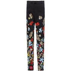 Preen by Thornton Bregazzi Poppy floral-print stretch-crepe pants ($472) ❤ liked on Polyvore featuring pants, floral print pants, floral printed pants, poppy pants, floral trousers and pastel pants
