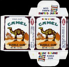 Swell - King-Size Camel Magic Colors gum cigarettes candy box -1970's by JasonLiebig, via Flickr