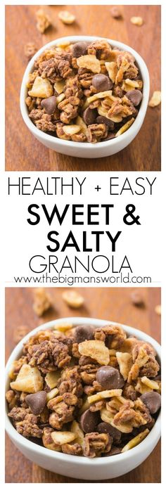 Sweet and Salty Trail Mix Granola - the perfect hiking snack for your kids! http://www.superhealthykids.com/easy-sweet-and-salty-granola-recipe/