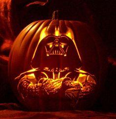 Darth Vader Pumpkin carving - amazing detail!