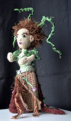 Spring Dryad  #spring #dryad #crochet #handmade #art #doll #sculpture #seasons #fantasy #etsy #mystical #ethereal #unique #gift #idea #NormalityNot