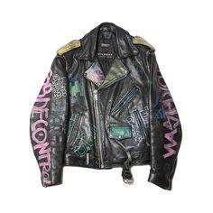Blackbird Vintage 80s Wilson Punk Leather Jacket ($750) ❤ liked on Polyvore