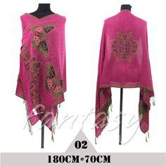 Hot Sale Long Fashion Double-Side Butterfly Pashmina Scarf Wrap Women Shawl Cape #Unbranded #Pashmina
