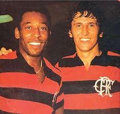 E o Rei vestiu o Manto!  Pelé e Zico - Flamengo - 1979