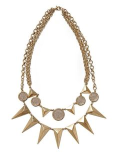 Piperlime   Two Row Spike Stone Necklace