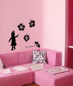 wallsticker hibiscus Wallpaper interior Design