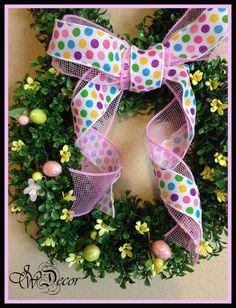 Easter Wreath Easter Bunny Wreath Boxwood Wreath by JWDecor