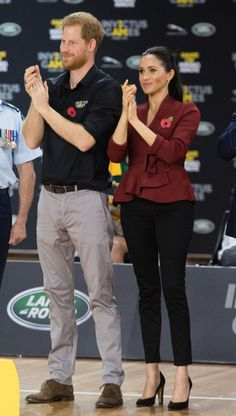 Prince Harry, Duke of Sussex and Meghan, Duchess of Sussex attend the Wheelchair Basketball final at the Invictus Games on October 2018 in Sydney, Australia. The Duke and Duchess of Sussex are on. Basketball Finals, Invictus Games, Meghan Markle Style, October 27, Tonga, Harry And Meghan, Sydney Australia, Fiji, Duke And Duchess