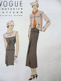 30's drapey suit ~