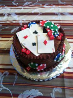 Poker cake Poker Cake, Cakes, Desserts, Food, Tailgate Desserts, Deserts, Food Cakes, Eten, Postres