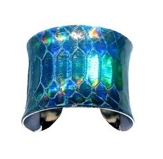 Iridescent Snakeskin Cuff, $70 | 26 Holographic Fashion Statements You Won't Be Able To Stop Staring At